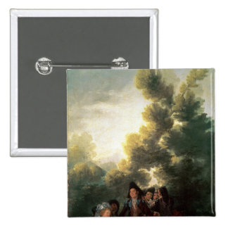 The Picnic, 1785-90 15 Cm Square Badge