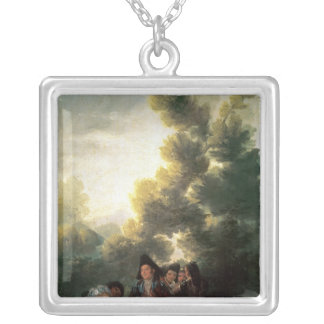 The Picnic, 1785-90 Silver Plated Necklace