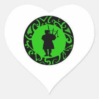 The Pied Piper Heart Sticker