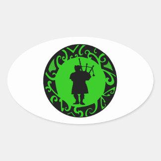 The Pied Piper Oval Sticker