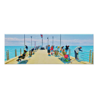 The Pier at Forte dei Marmi, Italy Poster Print