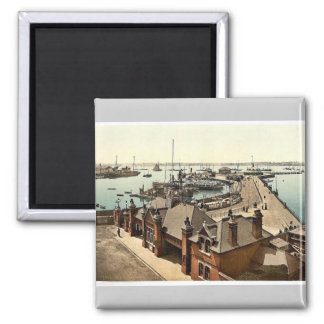 The pier, Southampton, England rare Photochrom Square Magnet