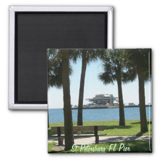 The Pier St Petersburg Florida Square Magnet