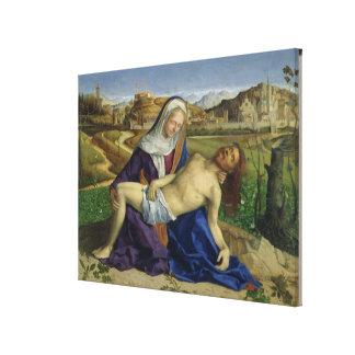 The Pieta, c.1505 (oil on panel) (post 1996 restor Canvas Print