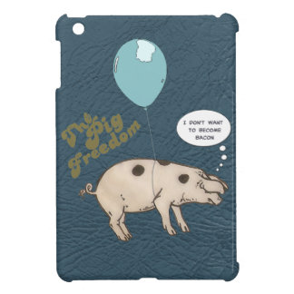 the pig freedom. cute iPad mini cases