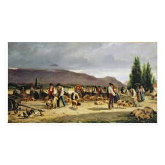 The Pig Market, 1875 Poster