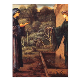 The Pilgrim at the Gate of Idleness by Edward Burn Postcard