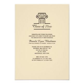 The Pillar (Tan) Invitation
