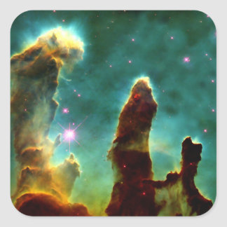 The Pillars of Creation Square Sticker