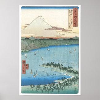 The Pine Beach, Hiroshige, 1856-56 Poster