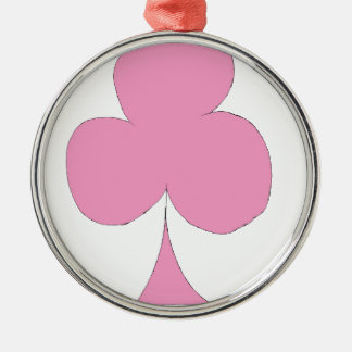 the pink club metal ornament