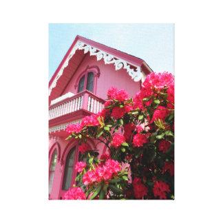 The Pink Cottage on Martha's Vineyard Canvas Print