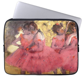 The Pink Dancers, before the Ballet by Degas Laptop Sleeve