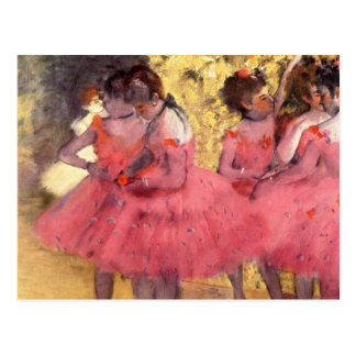 The Pink Dancers, before the Ballet Postcard