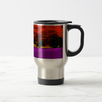 THE PINK FIELD STAINLESS STEEL TRAVEL MUG