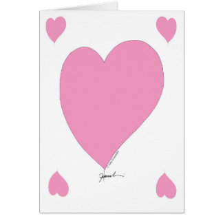 the pink hearts card