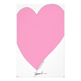 the pink hearts personalized stationery