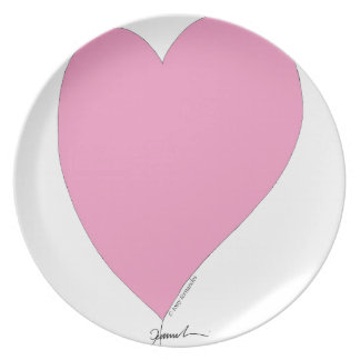 the pink hearts plate