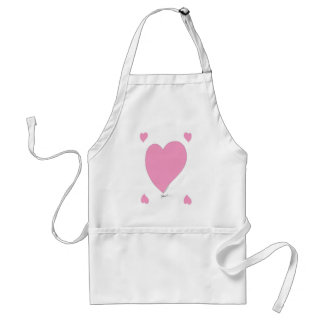 the pink hearts standard apron