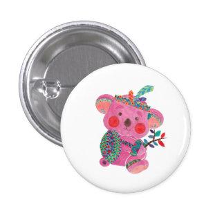 The Pink Koala 3 Cm Round Badge