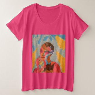 the pink lady plus size T-Shirt