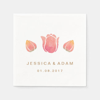 The Pink Tulip Wedding Paper Napkin