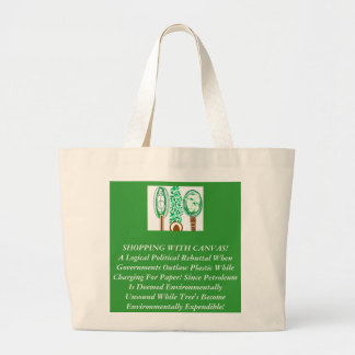 The Piracy Of Green Politics Jumbo Tote Bag