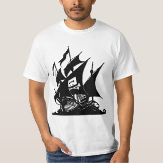 The Pirate Bay Logo Ship T-shirts