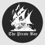 The Pirate Bay Round Stickers