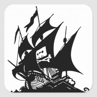 The Pirate Bay Square Sticker