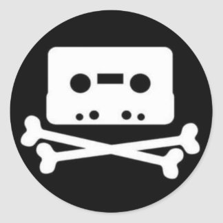 THE PIRATE BAY TAPE LOGO CLASSIC ROUND STICKER