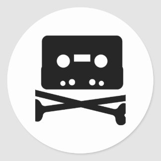 The Pirate Bay Tape Logo Round Sticker