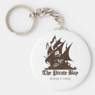 The Pirate Bay - Wood Texture Key Ring