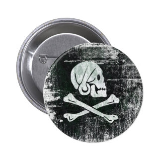 The pirate henry flag 6 cm round badge