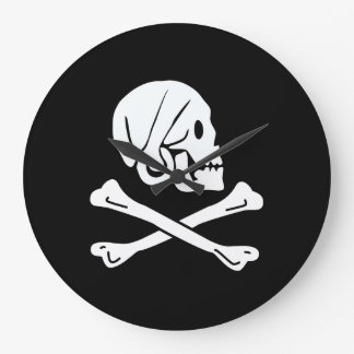 The pirate henry flag large clock