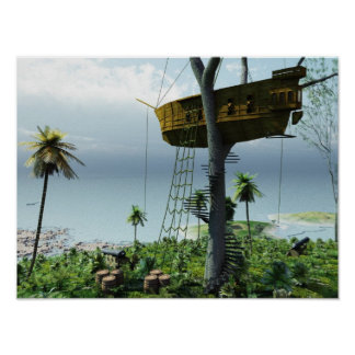 The Pirate treehouse Poster