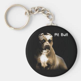 The PITbull Basic Round Button Key Ring