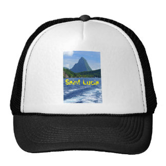 The Pitons in Saint Lucia Cap