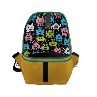 The Pixelated Alien Space Monsters. Courier Bags