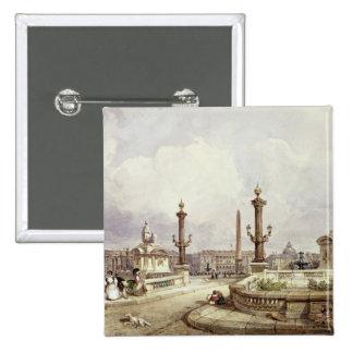 The Place de la Concorde c 1837 Pin