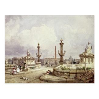 The Place de la Concorde, c.1837 Postcard