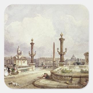 The Place de la Concorde, c.1837 Stickers