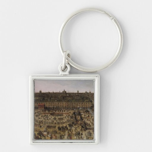 The Place Royale and the Carrousel in 1612 Key Chains