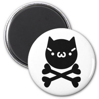 The plain gauze it comes and - is the cat do ku ro 6 cm round magnet