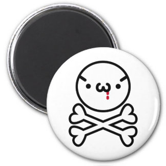 The plain gauze it comes and - is the do ku ro 6 cm round magnet