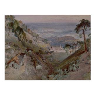 The Plains, Landour Church, Mussoorie, 1884 Postcard