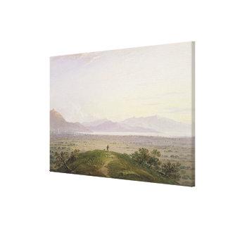 The Plains of Marathon, 1834 (graphite & w/c with Stretched Canvas Prints