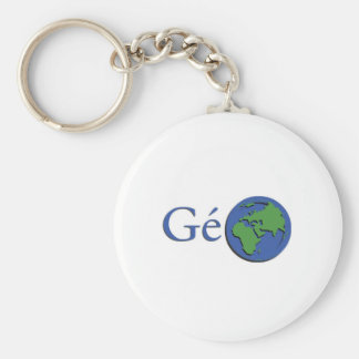 the planet ground - geography key ring