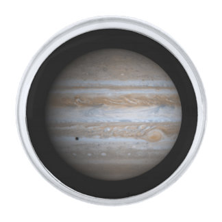 The Planet Jupiter Silver Finish Lapel Pin