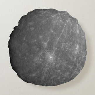 The Planet Mercury Round Cushion